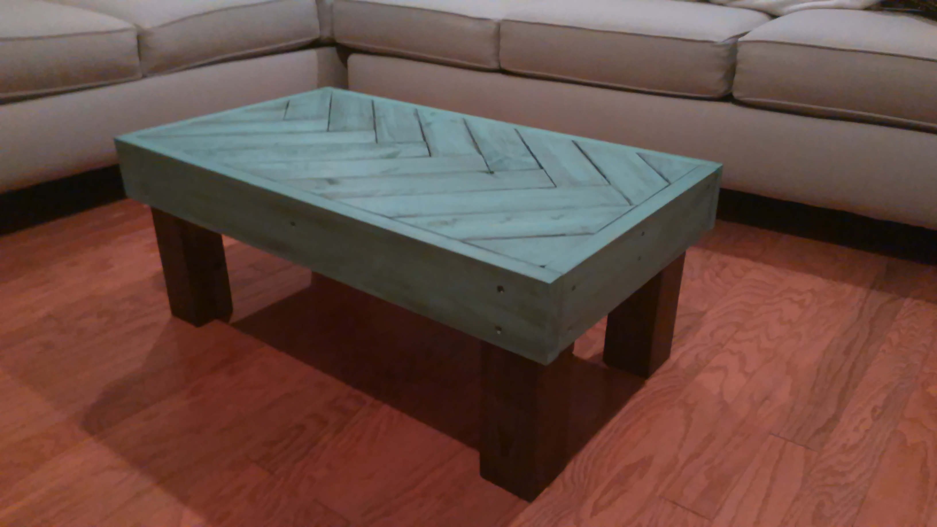 Picture of Rustic Herringbone Coffee Table