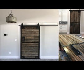 Sliding Barn Doors From Reclaimed Prison Fence | How-to