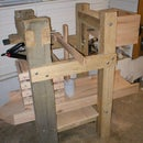 Homemade cheese and cider press