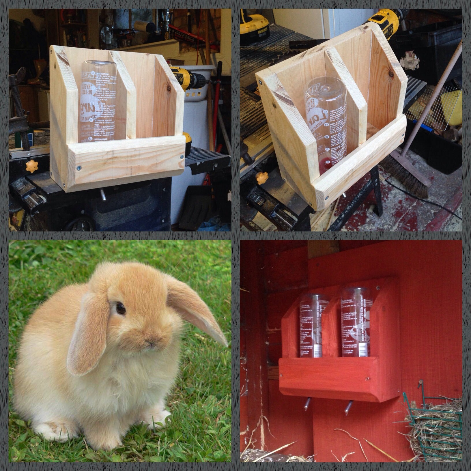 Bunny Rabbit Hydration Station Made From Scrap Wood 7