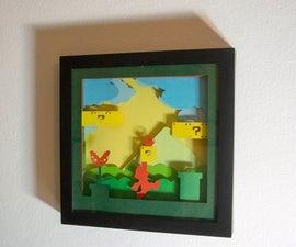Super Mario papercut frame