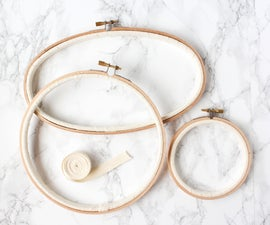 how to bind an embroidery hoop