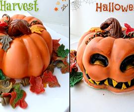Harvest Vs Halloween Pumpkin Cake