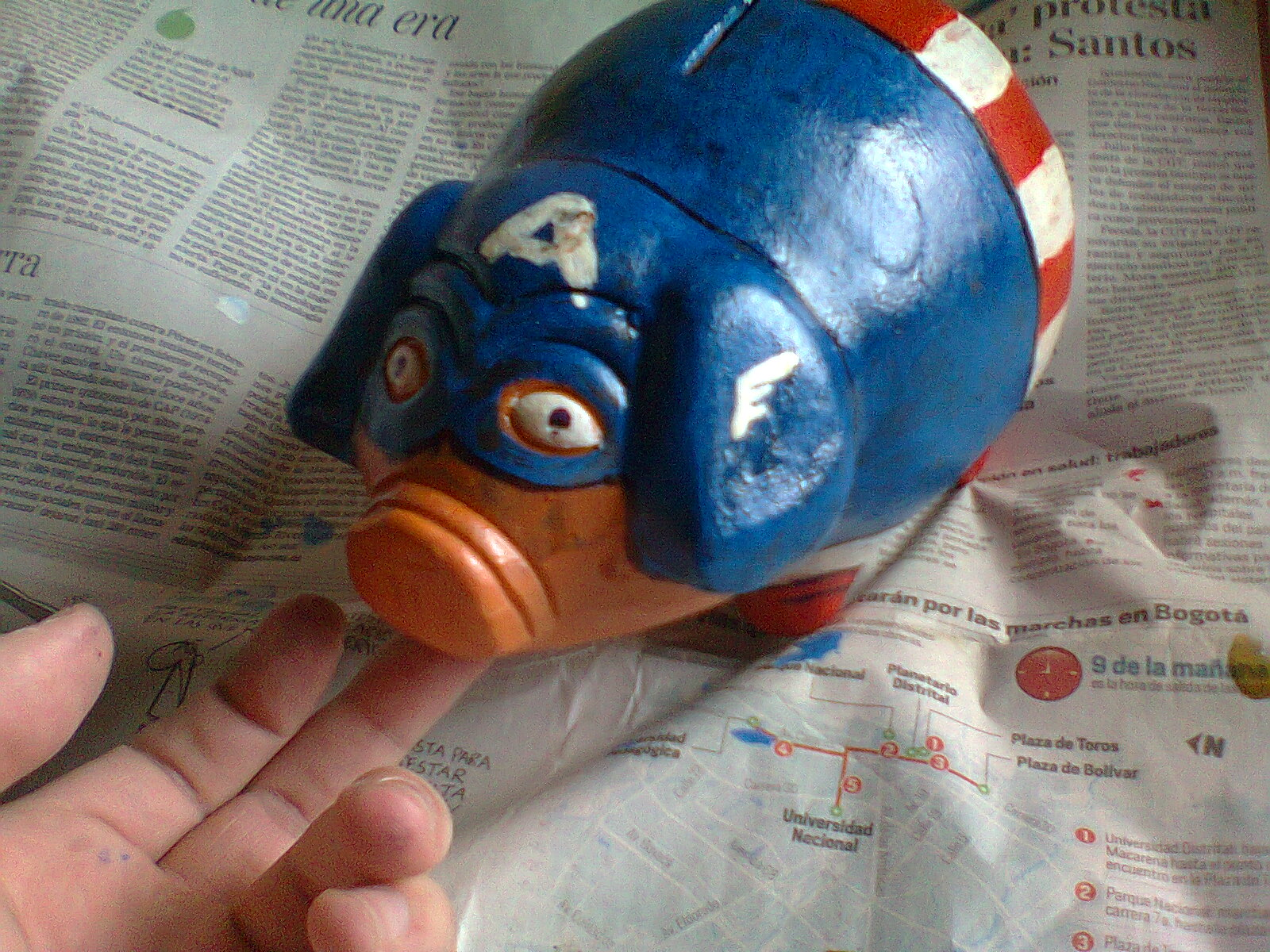 Picture of Captain America Piggy Bank