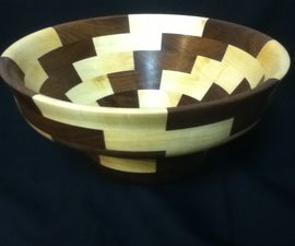 Segmented Salad Bowl Maple and Walnut