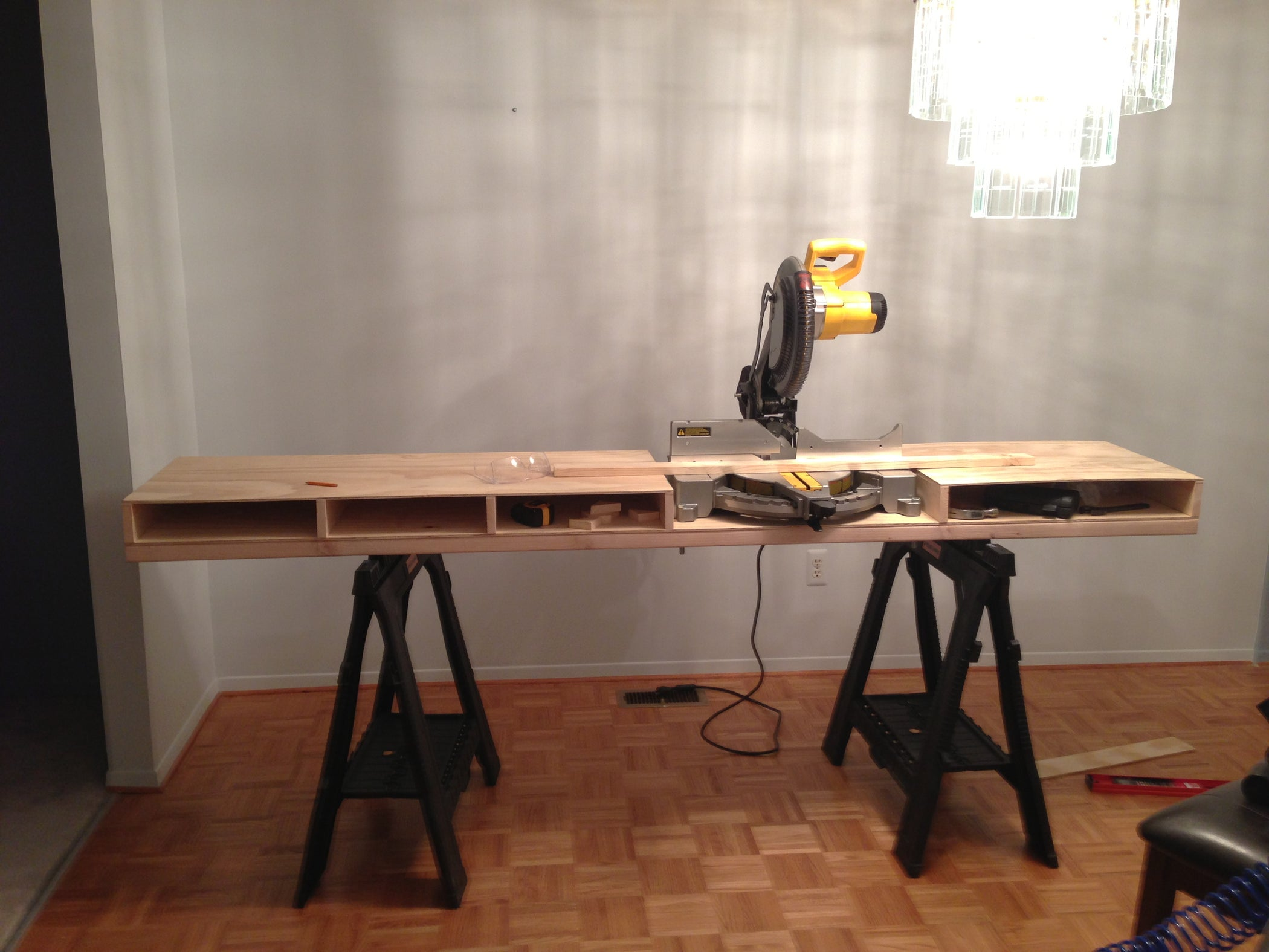 Build A Miter Saw Table I Made It At Techshop 4 Steps