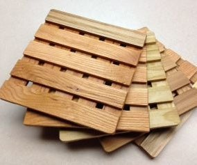 Wooden Trivets by the Dozen