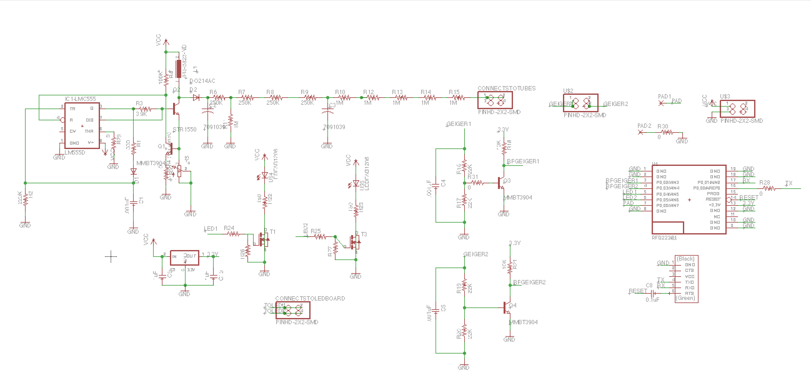 Picture of Quick Peak at Complete Geiger Schematic