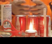 Soda can oil lamp new and improved design!
