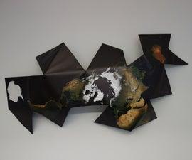 Unfolded Dymaxion Map Art