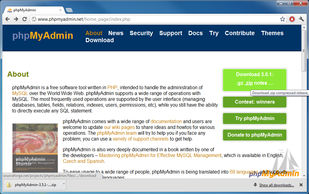 Picture of Installing PhpMyAdmin