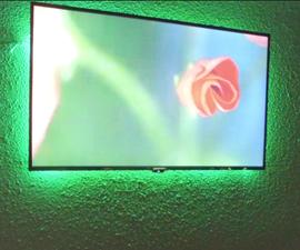 DIY Build for an LED Backlight Behind TV for Under $20!