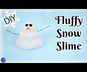 DIY FLUFFY SNOW SLIME - NO BORAX, BAKING SODA METHOD