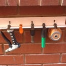 Garden Organizer for 'Click On' type watering accessories.