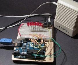 Arduino based visual music display