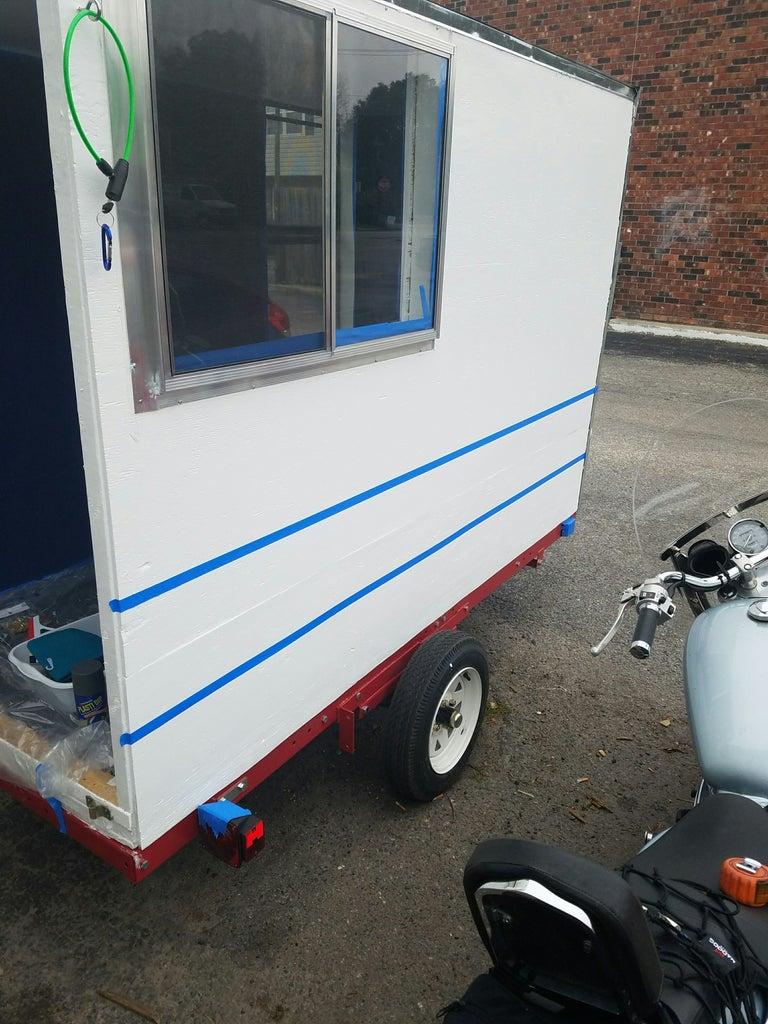 Diy 4x8 Micro Tiny House Camper On Harbor Freight Trailer
