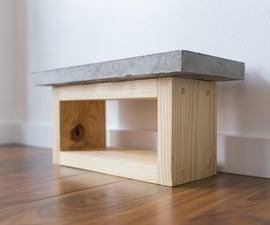 DIY Concrete/Wood Dog Bowl Stand