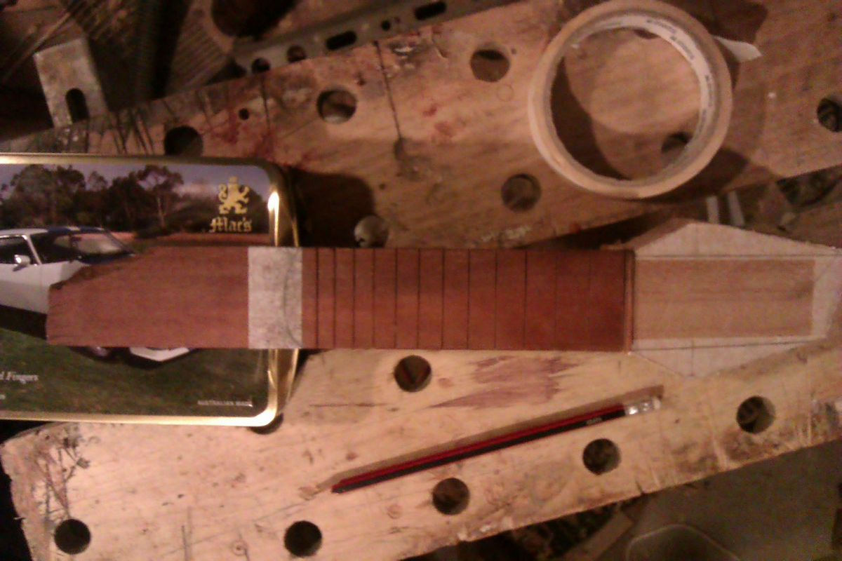Picture of Cross Check Every Thing Aligns and Attach Fretboard