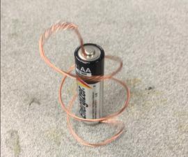 DIY Homopolar Motor (Make Battery Spin)