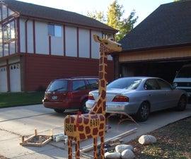 Giraffe Shaped Mailbox