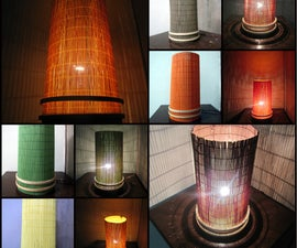 Elegant Interchangeable Color Ambience Lamp. Using Dining Mats, Very Easy to Make.