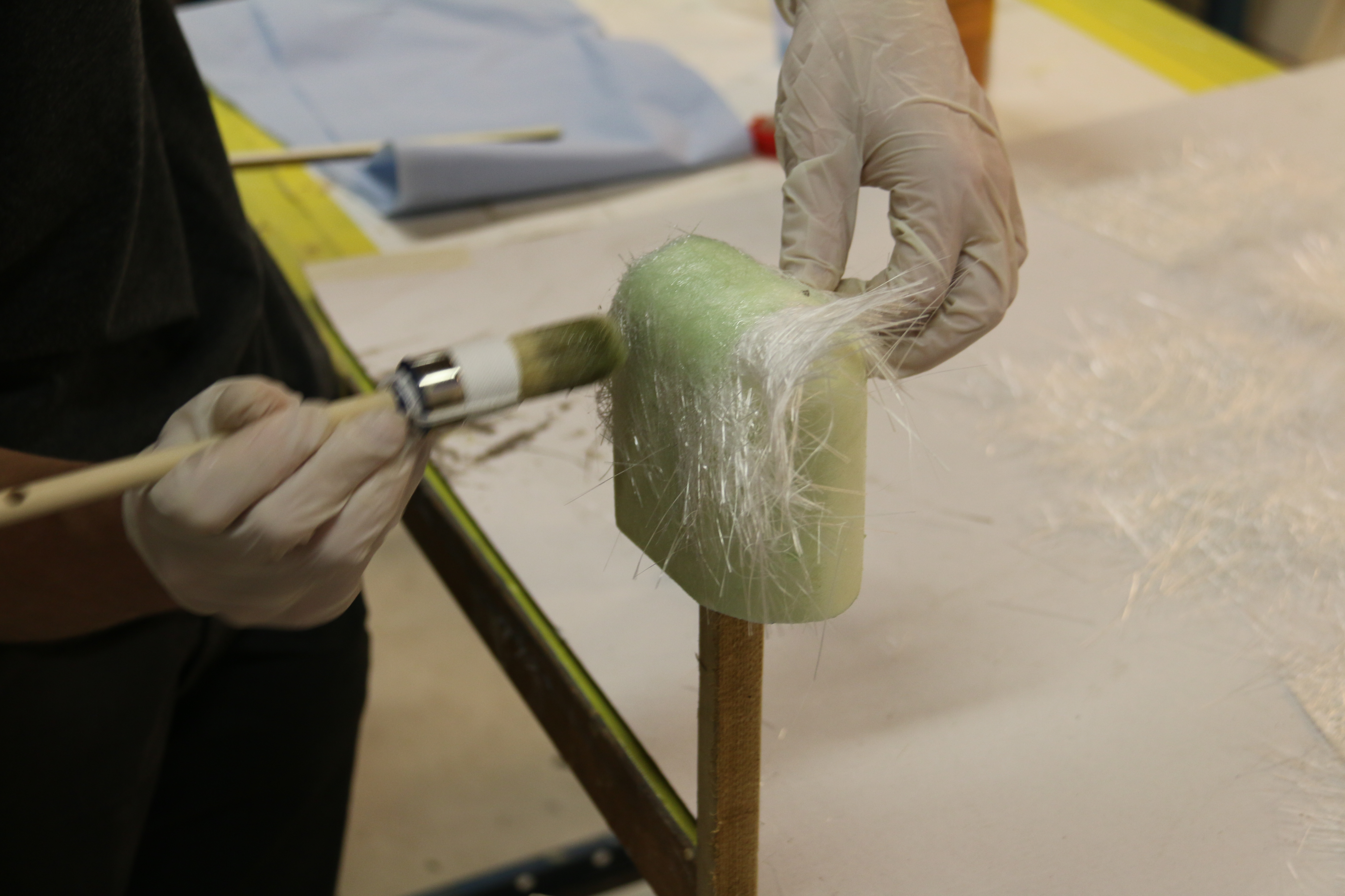 Picture of Put the Fiberglass on the Foam Model