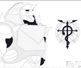 Alphonse Elric Armour in  Aluminium