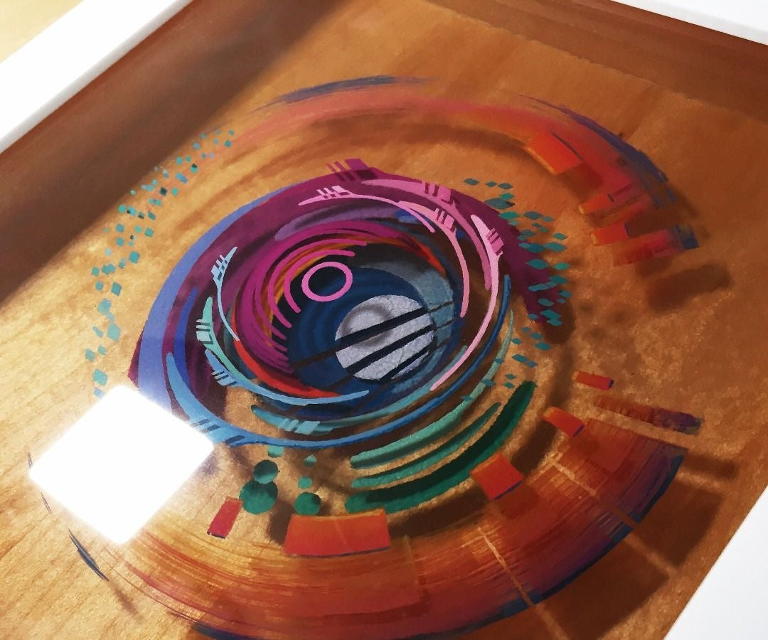 3D Painting: Layered Resin and Acrylic Paint