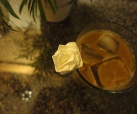 The Origami Straw Paper Rose / Flower (Simple Directions)
