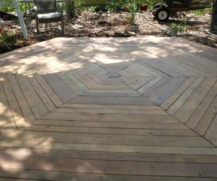 Hexagon Deck With Recycled Supplies