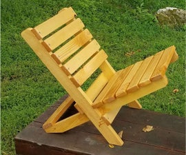The Becket Chair: Folding Wood Beach Chair Under $6 in Under an Half Hour*