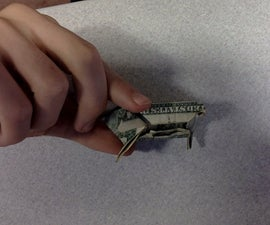 Origami Money Frog