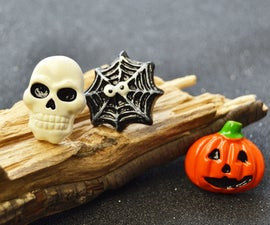 Halloween Theme Resin Cabochons Stud Earrings