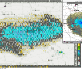 Radar graphics in a text world.
