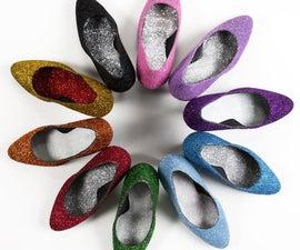 How to Make Glittered Heels