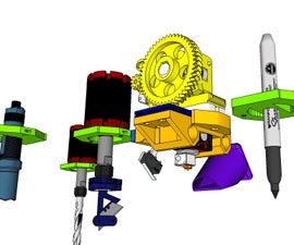 Multi 3d printer head carriage
