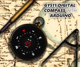 How to Use GY511 Module With Arduino [Make a Digital Compass]