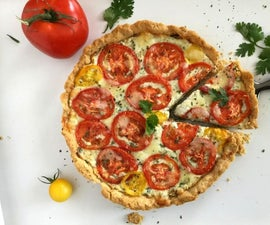 Rustic Tomato-Ricotta Tart/Pie
