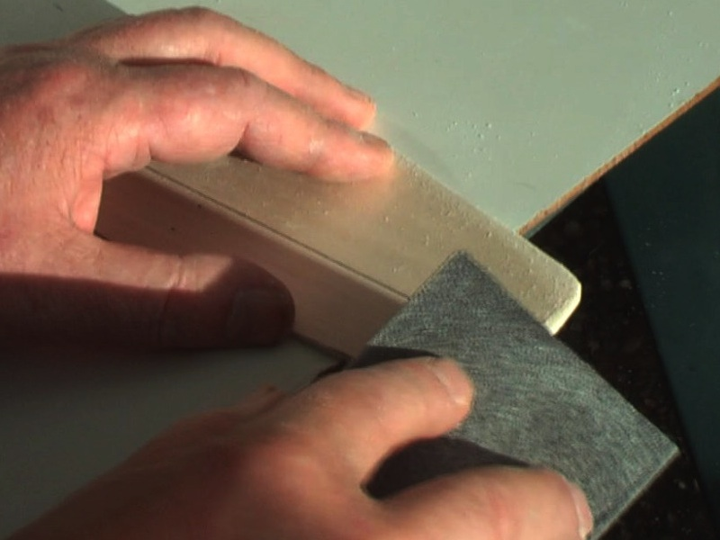 Picture of Cutting and Sanding Balsawood.