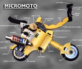 MICROMOTO mini foldable portable motorcycle