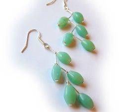 Head Pin Branch Earrings