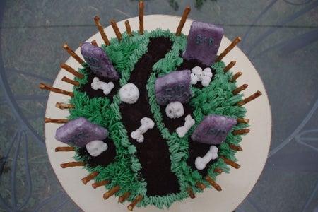 Haunted Cemetery Cake