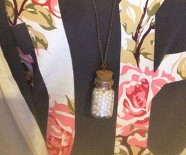 Not Your Grandma's Pearl Necklace- Pearl Bottle Necklace