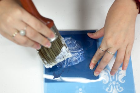 Paint on Some Image Transfer Medium or Craft Glue