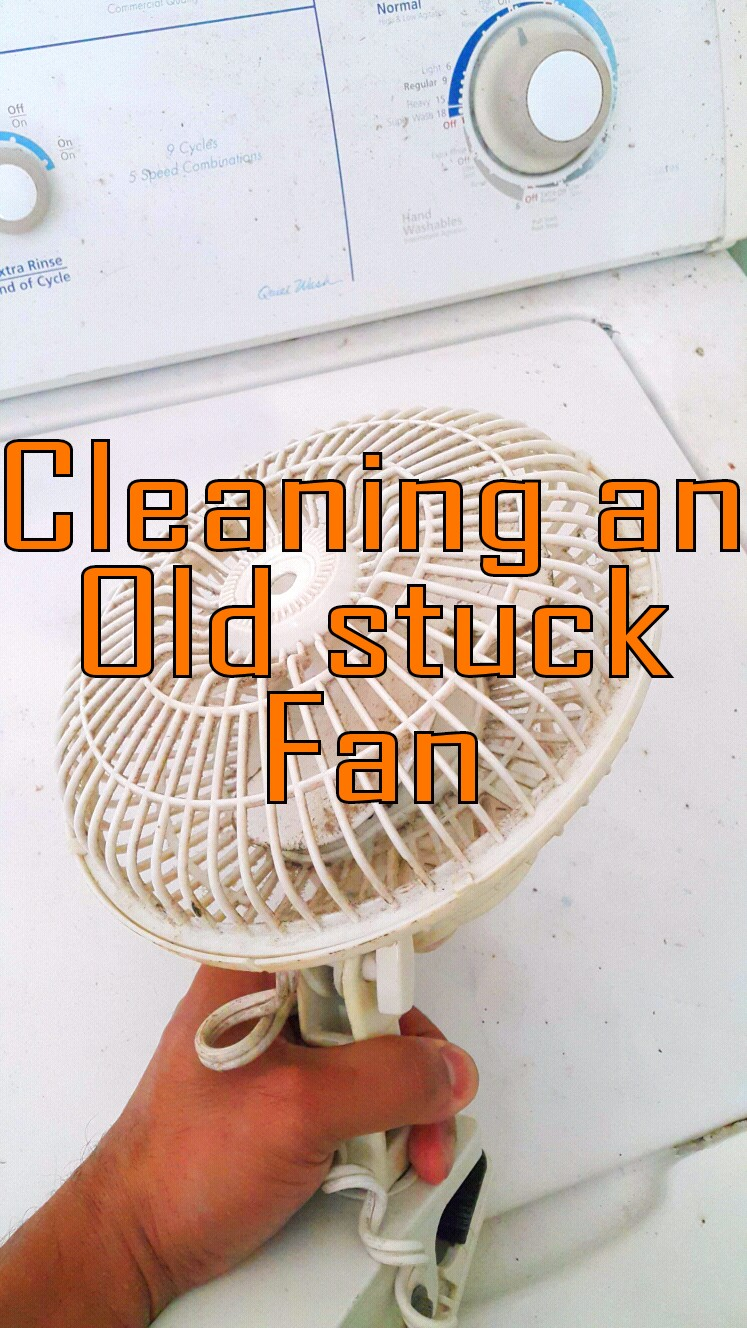 Picture of Servicing an Old Fan.