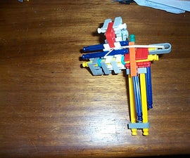 Small Easy Knex gun with magazine for 8-12 BB balls, can also shoot paper or pencils