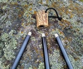 Antler Handle with Changeable Firesteel