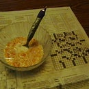 Newspaper Puzzle Spoon