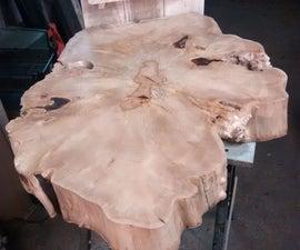 Large log slice table