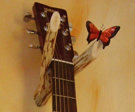 guitar wall mount / hanger -free, quick and dirty